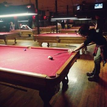 Play pool at TCB