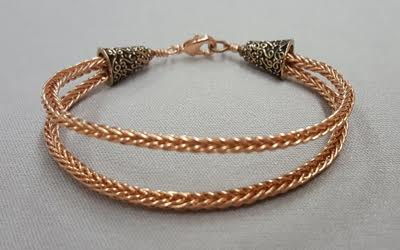 Double Braided Copper Bracelet Iowa